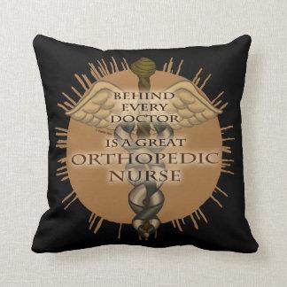 Great Orthopedic Nurse Caduceus Throw Pillow