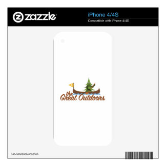 Great Outdoors Decals For iPhone 4S