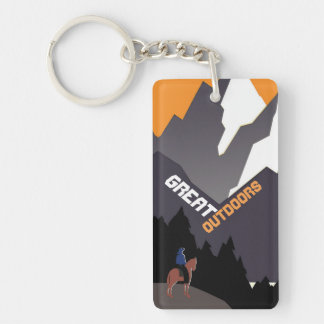 Great Outdoors Montana Keychain