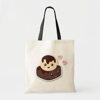 Great pair of Vanilla Ice Cream and Brownie Budget Tote Bag
