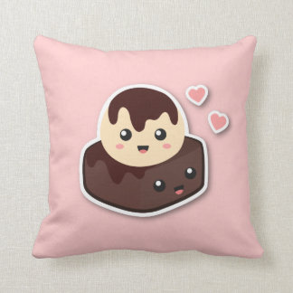 Great pair of Vanilla Ice Cream and Brownie Throw Pillow