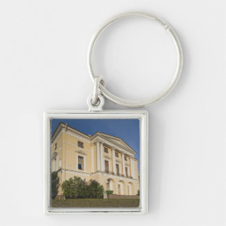 Great Palace of Czar Paul I, exterior 2 Silver-Colored Square Keychain