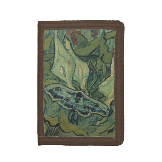 Great Peacock Moth by Vincent van Gogh Tri-fold Wallet