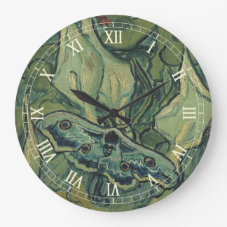 Great Peacock Moth by Vincent van Gogh Wall Clock