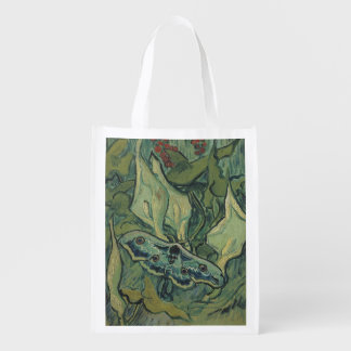 Great Peacock Moth by Vincent van Gogh Market Totes