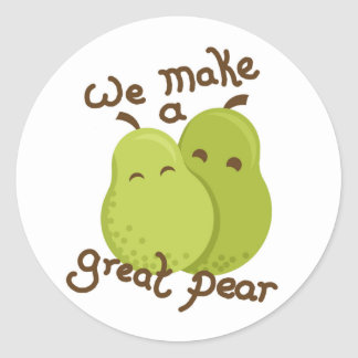 Great pear classic round sticker
