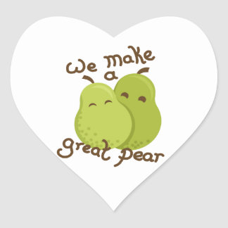 Great pear heart sticker