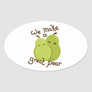 Great pear oval sticker