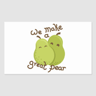 Great pear rectangular sticker
