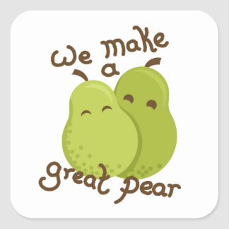Great pear square sticker