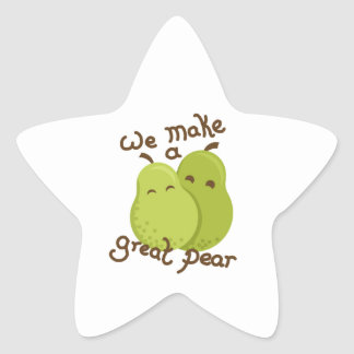 Great pear star sticker