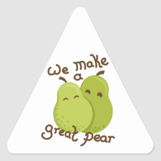 Great pear triangle sticker
