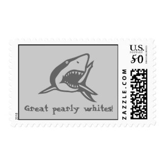 Great pearly whites! postage