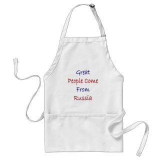 Great People Come From Russia Adult Apron