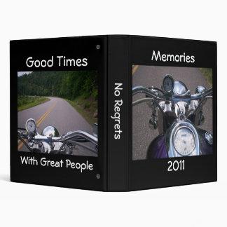 Great People Good Times Motorcycle Memories Binder