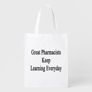 Great Pharmacists Keep Learning Everyday Grocery Bag