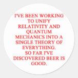 great phisics joke classic round sticker