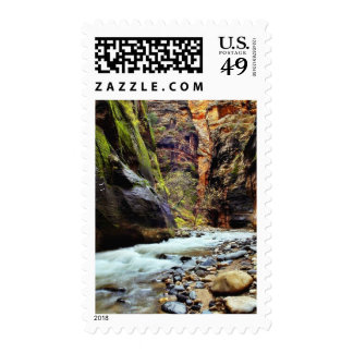 Great Photo Of Zion Narrows Showing The Many Color Postage