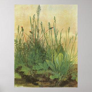 Great Piece of Turf by Albrecht Durer, Vintage Art Poster