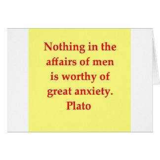 great plato quote card