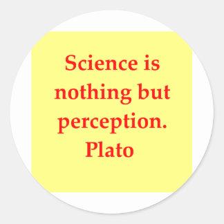 great plato quote classic round sticker