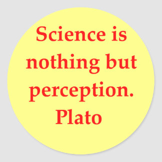great plato quote classic round sticker