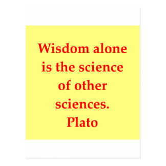 great plato quote post cards
