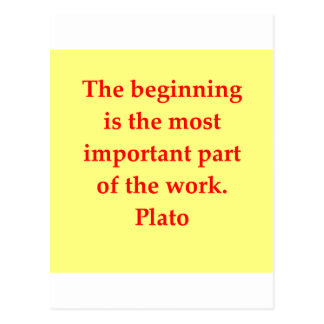 great plato quote postcard