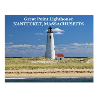 Great Point Lighthouse, Nantucket, MA Postcard