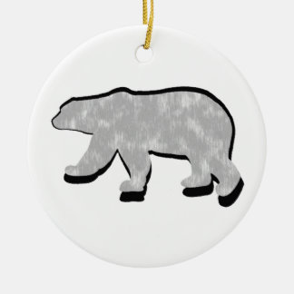 GREAT POLAR BEAR Double-Sided CERAMIC ROUND CHRISTMAS ORNAMENT