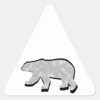 GREAT POLAR BEAR TRIANGLE STICKER