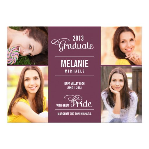 Great Pride Graduation Invitation /Announcement Announcements