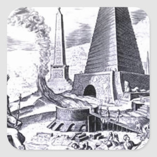 Great Pyramid of Giza by Maerten van Heemskerck Square Sticker