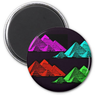 Great Pyramid of Giza Collage 2 Inch Round Magnet