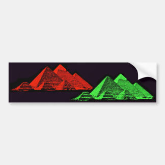 Great Pyramid of Giza Collage Car Bumper Sticker
