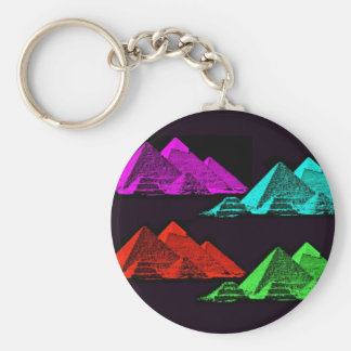 Great Pyramid of Giza Collage Keychain