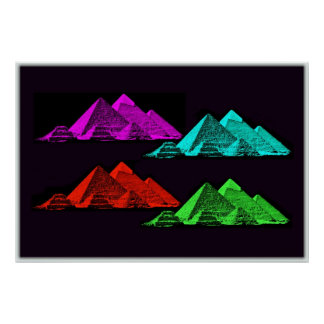 Great Pyramid of Giza Collage Posters