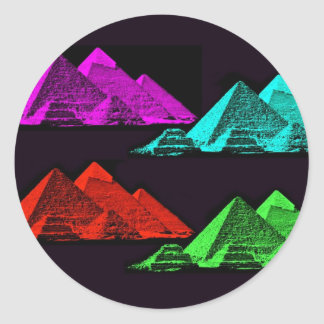Great Pyramid of Giza Collage Round Stickers