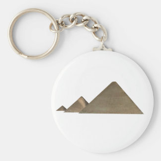 Great Pyramid of Giza: Basic Round Button Keychain