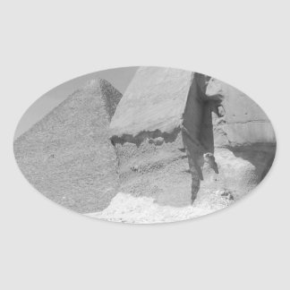 Great Pyramid of Giza Oval Sticker