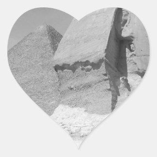 Great Pyramid of Giza Heart Sticker