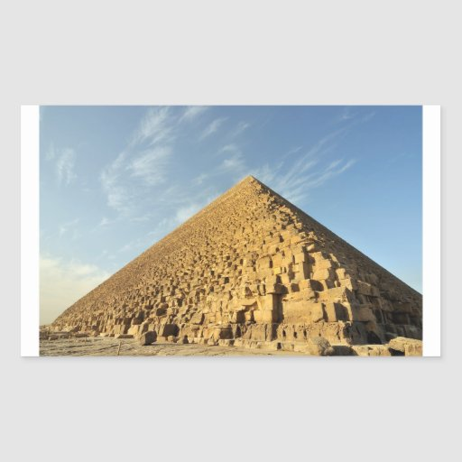 Great Pyramid of Khufu (Cheops), Giza, Egypt Rectangle Stickers