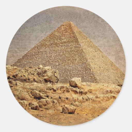 Great Pyramid of Khufu Round Sticker