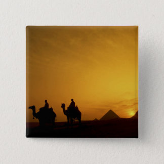 Great Pyramids of Giza, Egypt at sunset Button