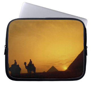 Great Pyramids of Giza, Egypt at sunset Computer Sleeves