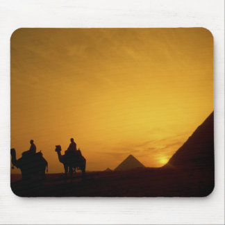 Great Pyramids of Giza, Egypt at sunset Mouse Pad