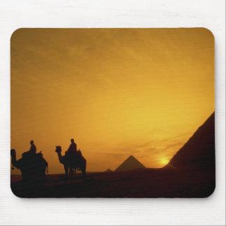 Great Pyramids of Giza Egypt at sunset Mousepads