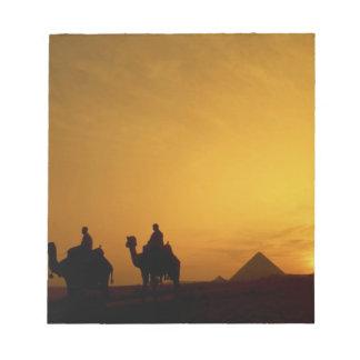 Great Pyramids of Giza, Egypt at sunset Notepad