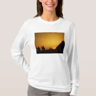 Great Pyramids of Giza, Egypt at sunset T-Shirt