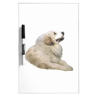 Great Pyrenees (#1, lying down) Dry Erase Board